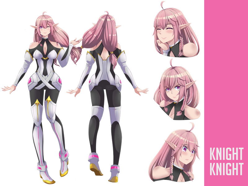 anime style character sheet