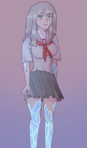 Colored drawing knee up