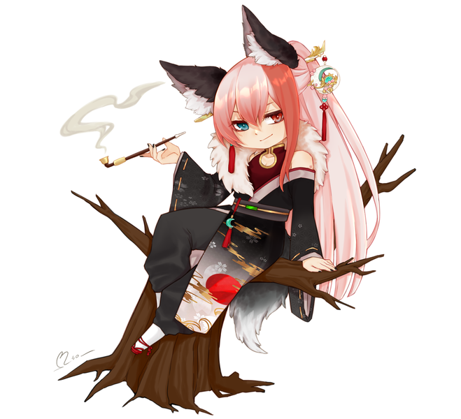 colored chibi full body