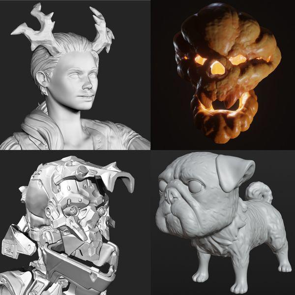3D SCULPTED BUST