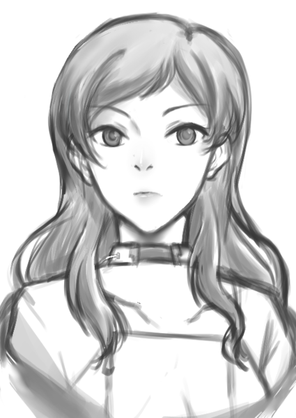 Bust-up Sketch BW