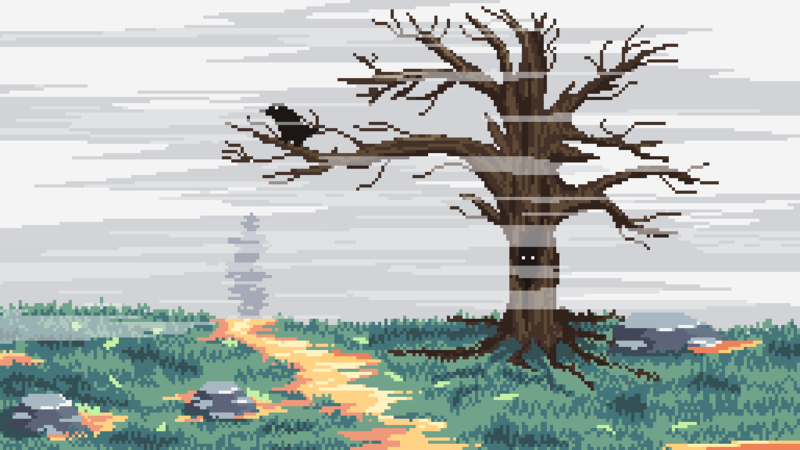 Landscape Pixel Art Background