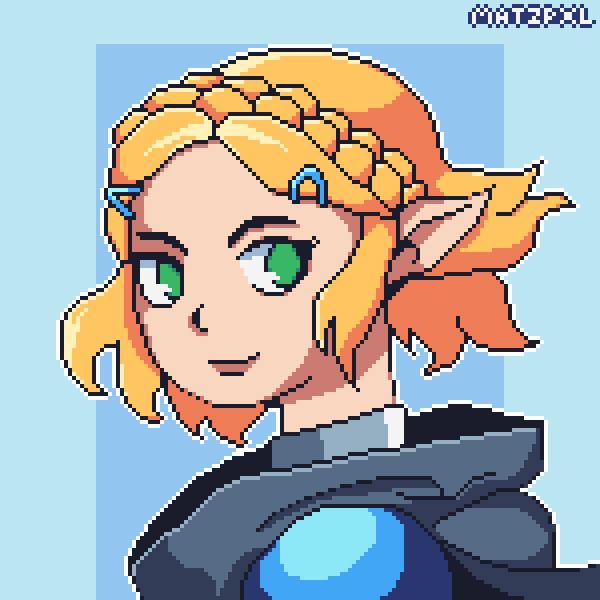 Partial Body Pixel Art Character
