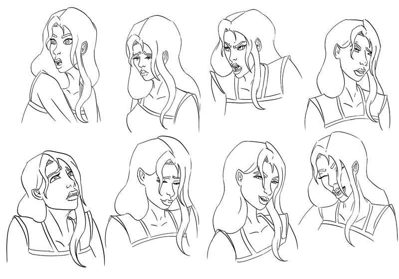 expressions portrait character
