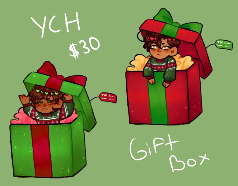 Christmas YCH: Gift Box!