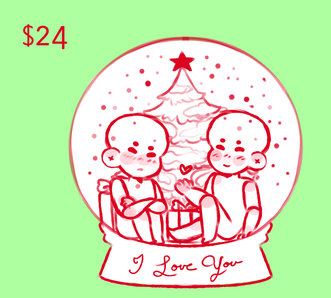 Christmas YCH #2 (Snow Globe)