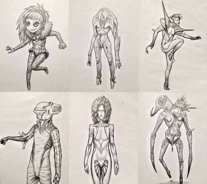 Full Detail Shaded sketch : full-body