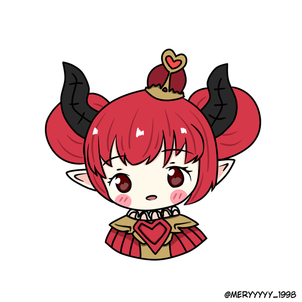Colored headshot chibi