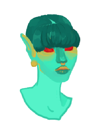 Stylized Painted Bust