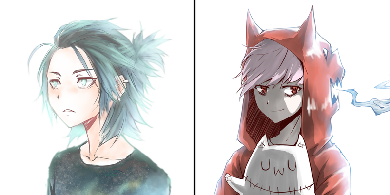 Colored Sketch Anime Style Bust-up