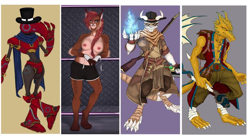 Furry & fantasy creatures illustration