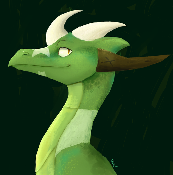 Painted Dragon Headshot