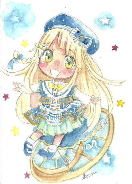 Watercolor chibi