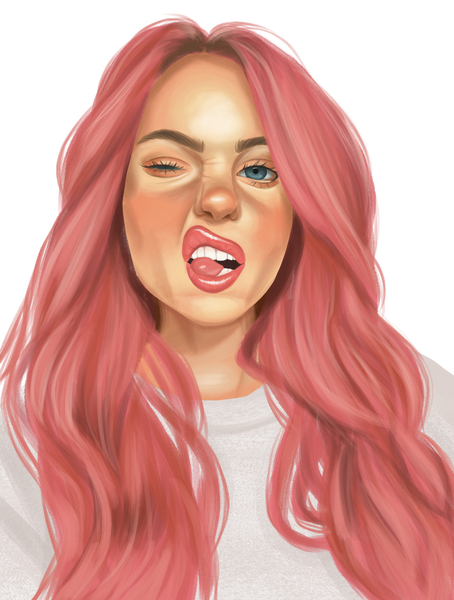 Colored Bust Digital Painting