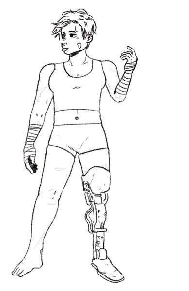 B&W full body sketch!