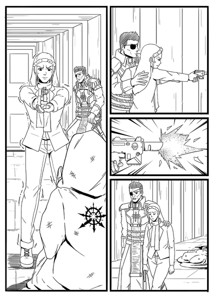 CLEAN LINE ART COMIC PAGE