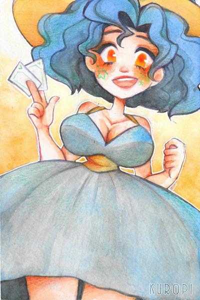 Watercolored Half-Body