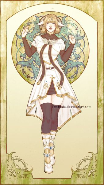 art nouveau inspired fullbody