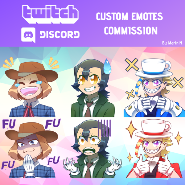 Buy 10 free 2 SPECIAL Twitch Emotes
