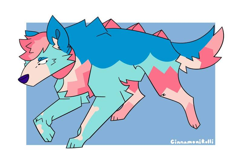 Colored full body unshaded