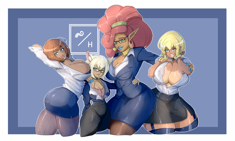 GROUP HALF BODY DRAWING FULL COLOR