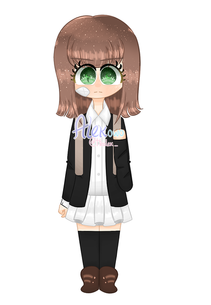 Colored full-body /without background
