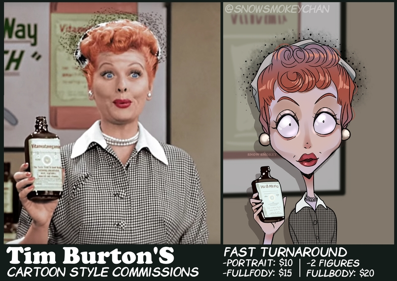 Tim Burton Style Caricature