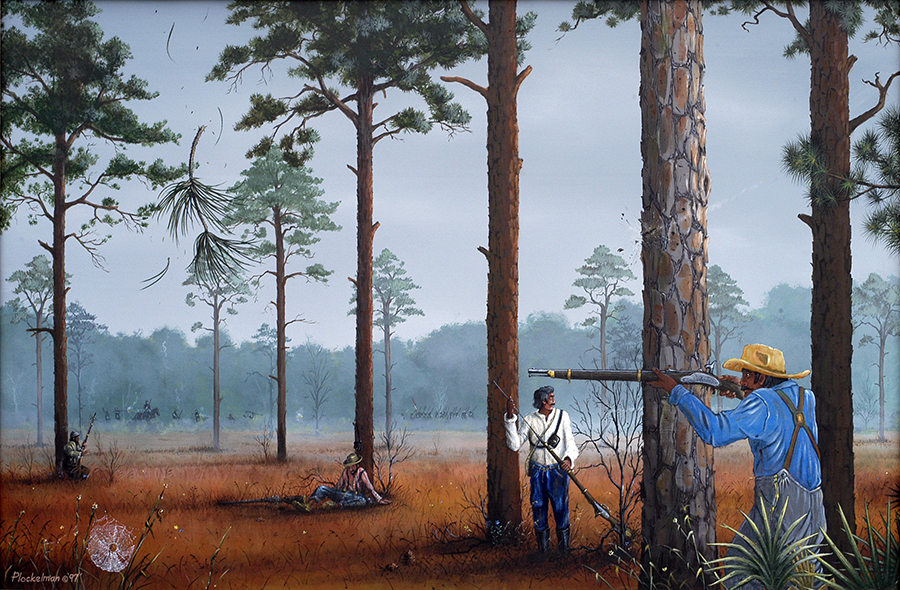 A Skirmish Prior To The Battle Of Olustee