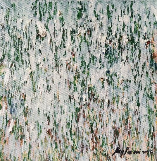 雨中葵 - 2 (Flowers in the Rain - 2) by Hong You Cai 洪有彩