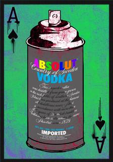 Absolut Vodka Spray Can