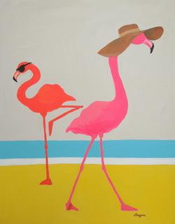 Floppy Hat Flamingo