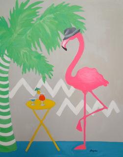 Suave flamingo