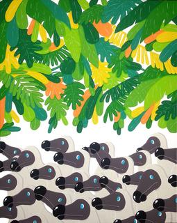 Dodo in jungle