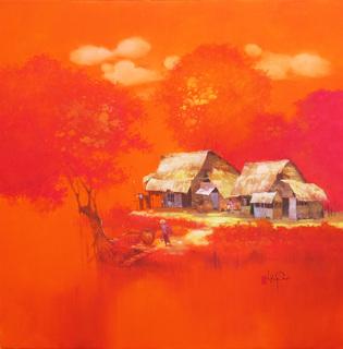 Village In Sunset