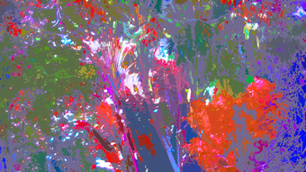 THICK COLORFUL JUNGLE, 100 x 180 cm