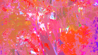 THICK ORANGE JUNGLE, 100 x 180 cm