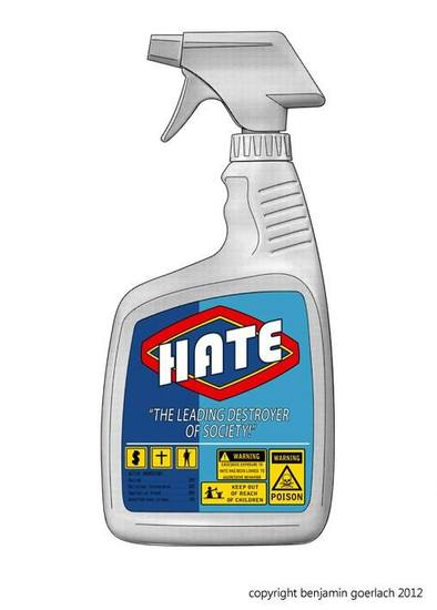 Hate Bottle - Tractor Yellow