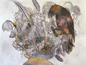 Flowers In A Vase (Natural History Birds) no.4