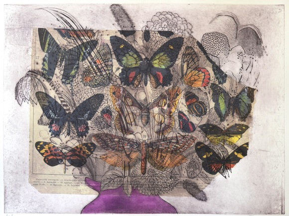Flowers In A Vase (Vintage Butterfly)