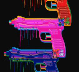 Pop art Water Toy Gun