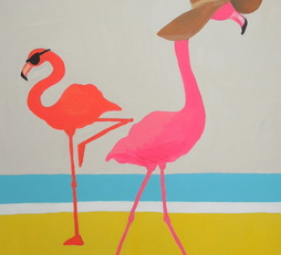 Floppy Hat Flamingo