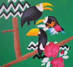 Zig zag toucans