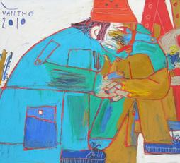 Portrait Of Old Painter