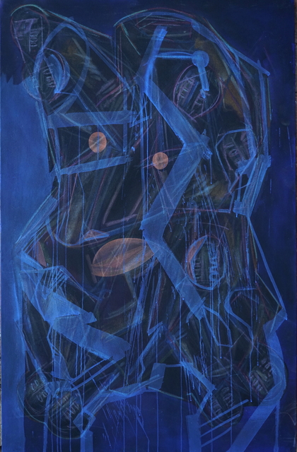 Dumitru Gorzo _ Generative System I , 2020, acrylic and pigments on canvas, 70 x 45 in