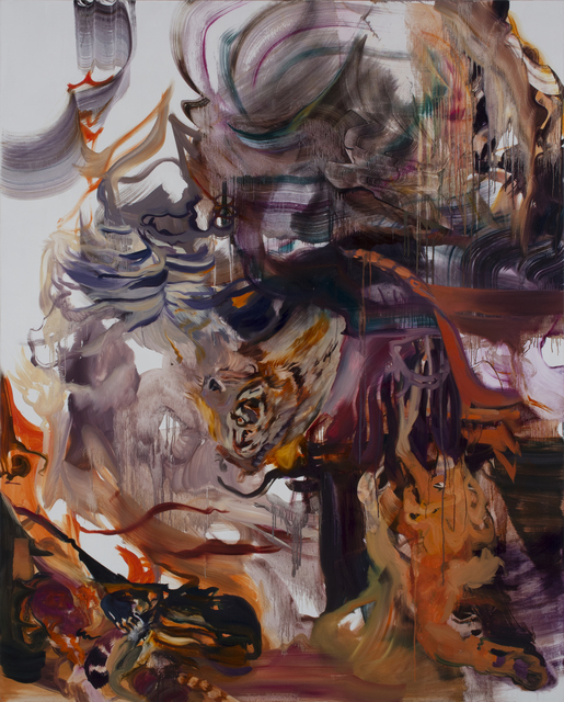 Seething Tigers, oil on canvas, 82in x 66in, 2020