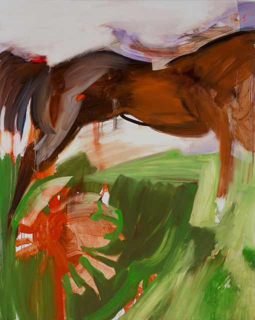 Horse and Flower, oil on canvas, 48 x 60 in, 2020