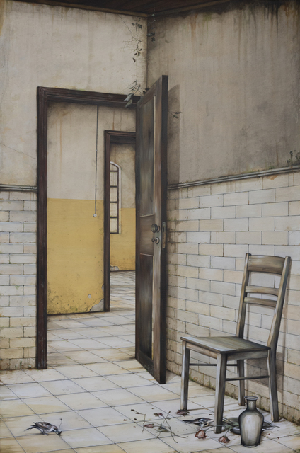 Fragile Circumstances, 2020, oil on canvas, (100 x 150 cm) 59 x 39 in