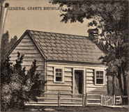 Grant's birthplace in Point Pleasant, Ohio