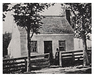 Birthplace in Point Pleasant, Ohio, photo taken circa 1864.