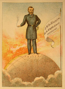 Grant on top of the World -- A Tobacco Adverstising Card
